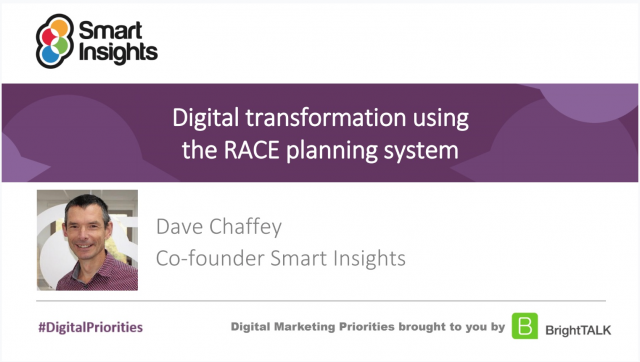 Digital Transformation using the RACE Planning System