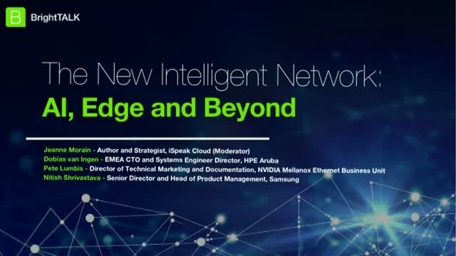 [Panel] The New Intelligent Network: AI, Edge and Beyond