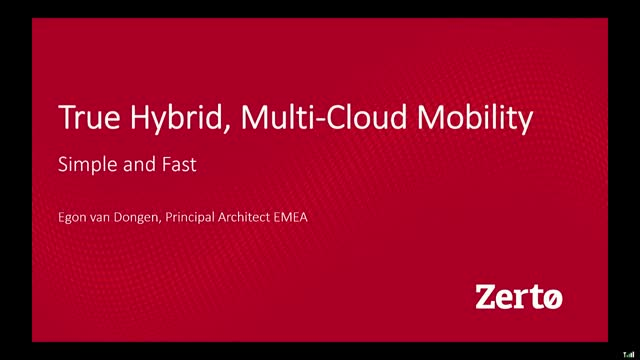 True Hybrid, Multi-Cloud Mobility - Simple and Fast