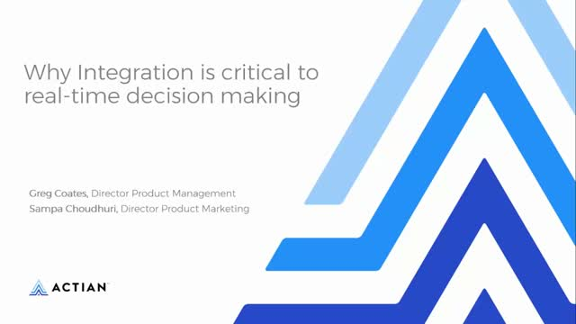 Why Integration is Critical to Real-time Decision Making