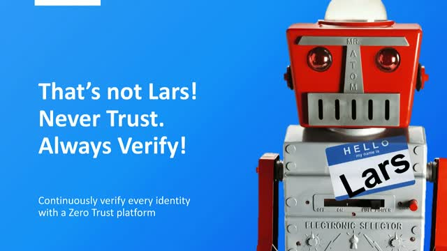 This isn't Lars! Avoid assumptions. Always verify!