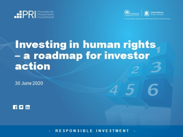 Investing in human rights – a roadmap for investor action