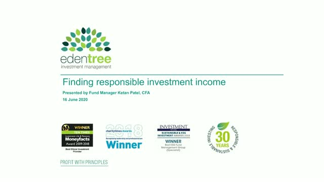 Finding responsible investment income