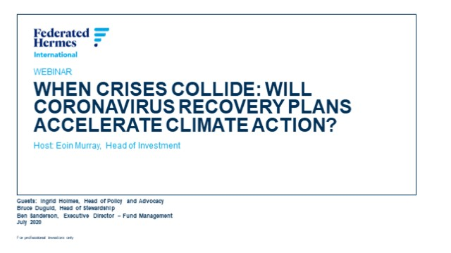 When crises collide: will coronavirus recovery plans accelerate climate action?