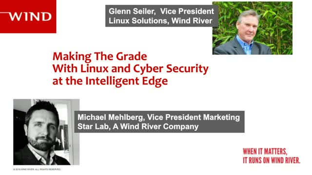 Making the Grade with Cybersecurity, Linux, and the Intelligent Edge
