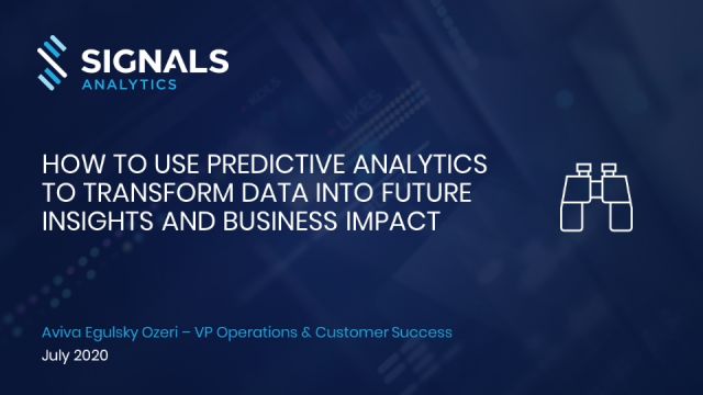 How to Use Predictive Analytics to Transform Data Into Future Business Impact