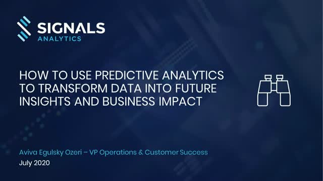 How to Gain Competitive Advantage with Predictive Analytics [Webinar]