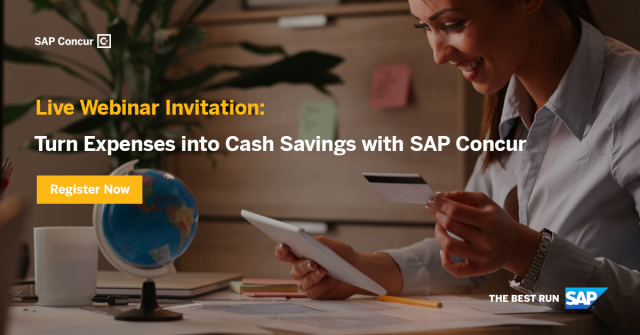 Turn Expenses into Cost Savings with SAP Concur