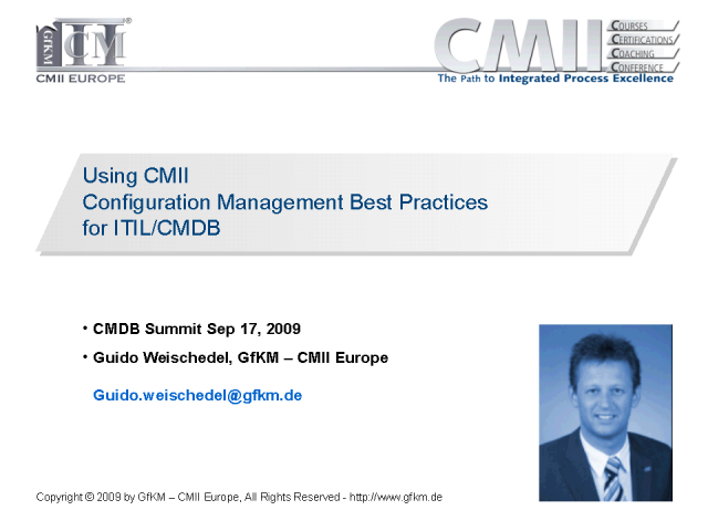 Using CMII Configuration Management Best Practices for ITIL/CMDB