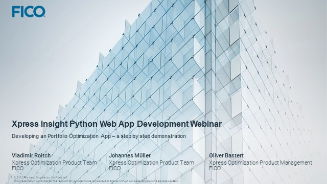 Easy Deployment of Python Models as Web Applications with Xpress Insight