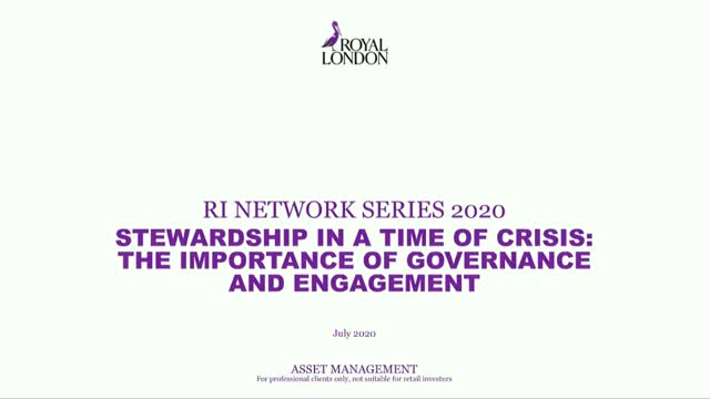 Stewardship in a time of crisis:  the importance of governance and engagement
