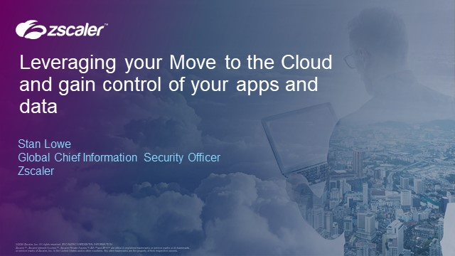Leveraging moving to the cloud to gain control of your apps and data