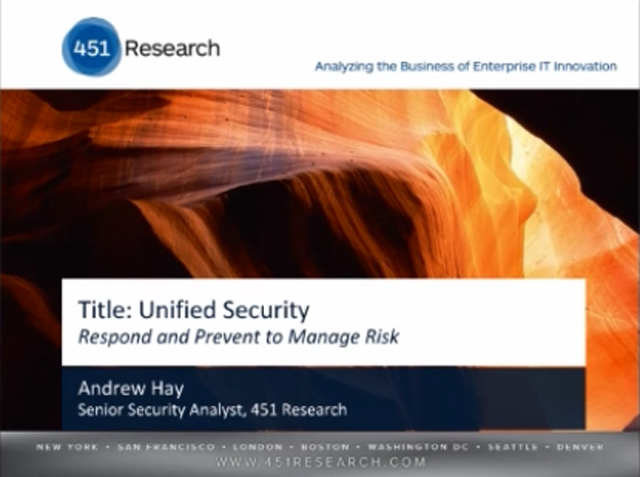 Unified Security: Respond and Prevent to Manage Risk