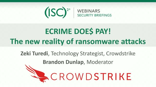 ECRIME PAY$! - The New Reality of Ransomware Attacks