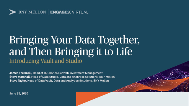 Bring Your Data Together, Then Bring it to Life - Introducing Vault and Studio