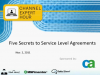 Five Secrets to Service Level Agreements