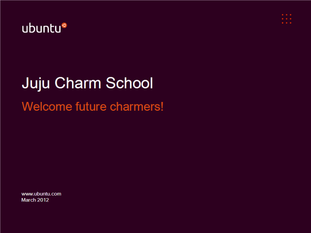 Sign up to Juju charm school