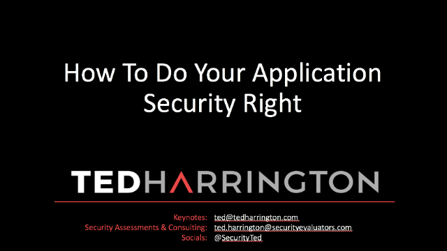 How To Do Application Security Right