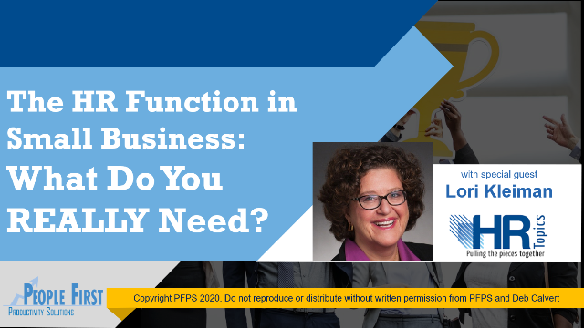 The HR Function in Small Businesses: What Do You Really Need?