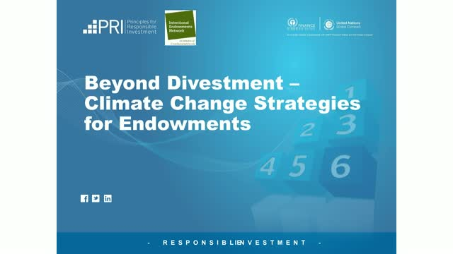 Beyond divestment – climate change strategies for endowments