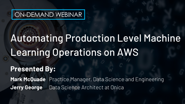 Automating Production Level Machine Learning Operations on AWS