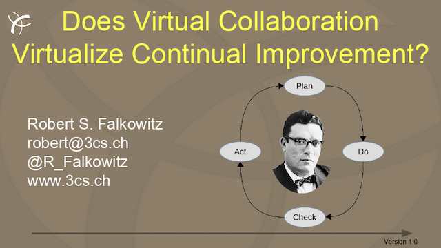 Does Virtual Collaboration Virtualize Continual Improvement?