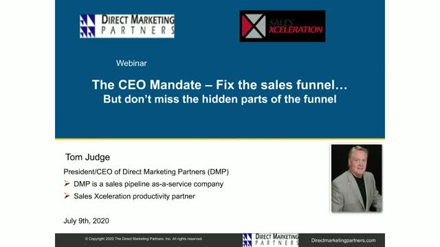 CEO Mandate - Fix the Sales Funnel, Dont Miss the Hidden Part of the Funnel