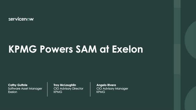 KPMG Powers SAM at Exelon