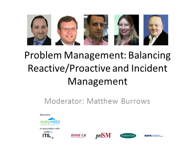 Problem Management: Balancing Reactive/Proactive and Incident Mngt