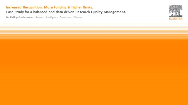How to increase recognition, funding & position in rankings: research management
