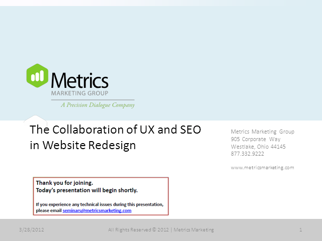 The Collaboration of UX and SEO in Website Redesign