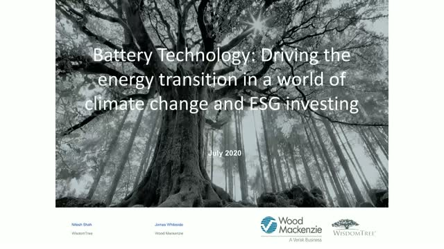 Battery Technology: Driving the energy transition in a world of climate change