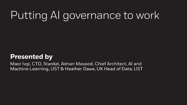 Putting AI Governance to Work