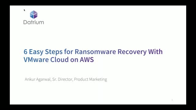 6 Easy Steps for Ransomware Recovery With VMware Cloud on AWS