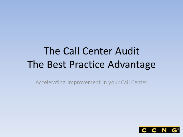 You can't Manage what you can't or don't Measure in your Contact Center