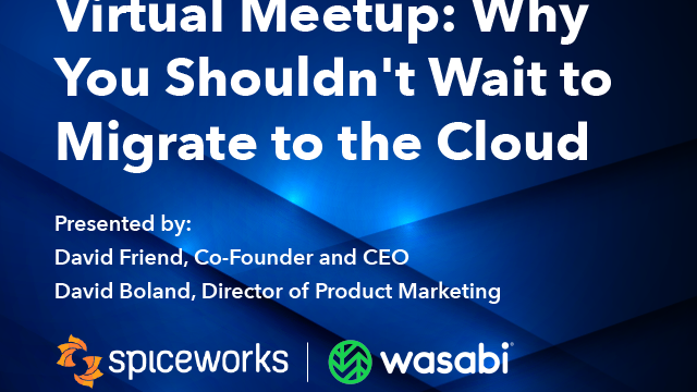 Virtual Meetup: Why You Shouldn't Wait to Migrate to the Cloud