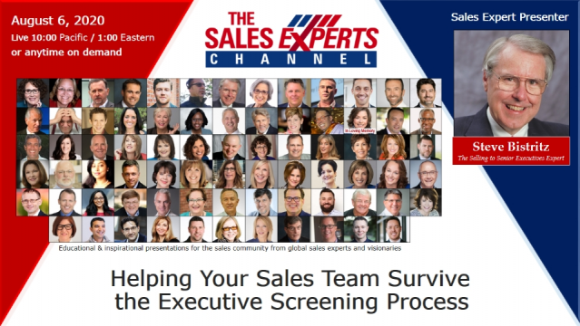 Helping Your Sales Team Survive the Executive Screening Process