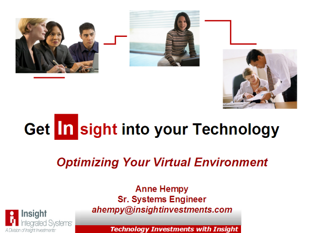Optimizing Your Virtual Environment