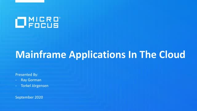 Get more from Mainframe Applications in the Cloud