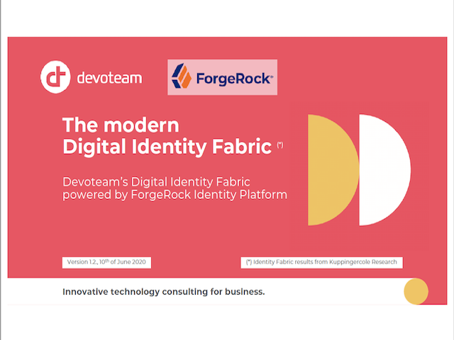 Digital Identity Fabric, with Devoteam (Benelux)