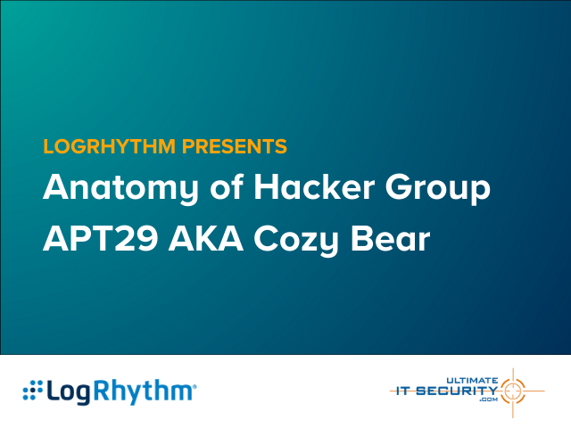 Anatomy of a Hacker Group: APT29 On-Demand Webcast with UWS