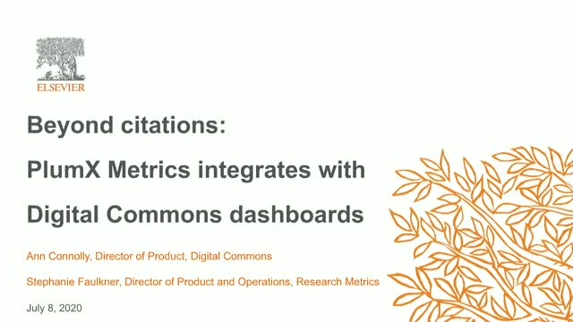 Beyond citations: PlumX Metrics integrates with Digital Commons dashboards