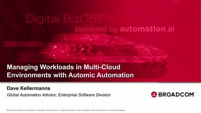 Managing  Workloads in Multi-Cloud Environments with Automic Automation