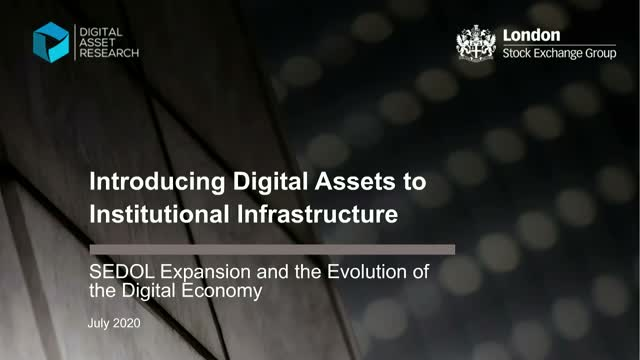 Introducing Digital Assets to Institutional Infrastructure