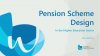 Pension scheme design for higher education institutions