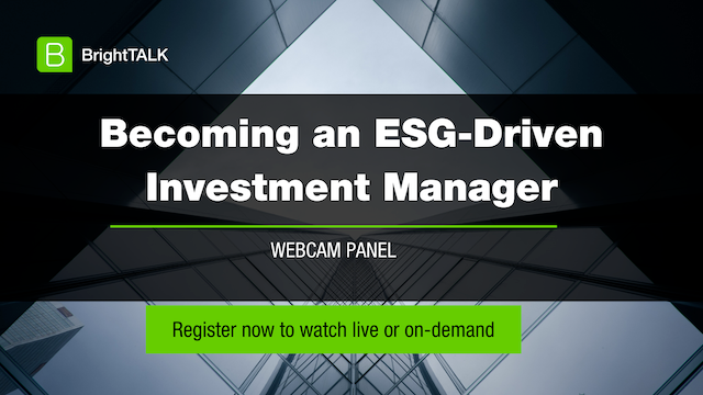 Becoming an ESG-Driven Investment Manager