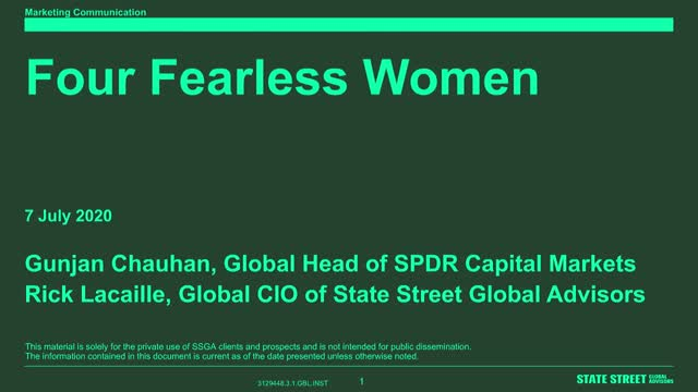 Working From Home with SPDR ETFs: Four Fearless Women