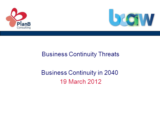 Horizon Scanning - What could Business Continuity look like in 2040
