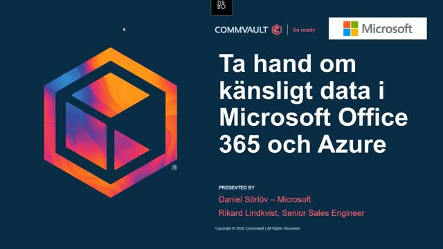 Ta hand om känsligt data i Microsoft Office 365 och Azure (in Swedish)
