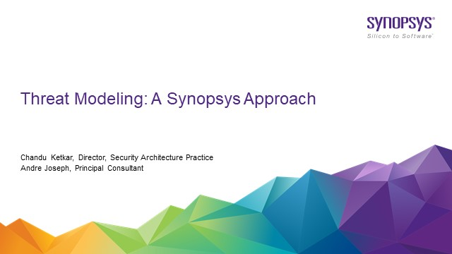 Threat Modeling: A Synopsys Approach